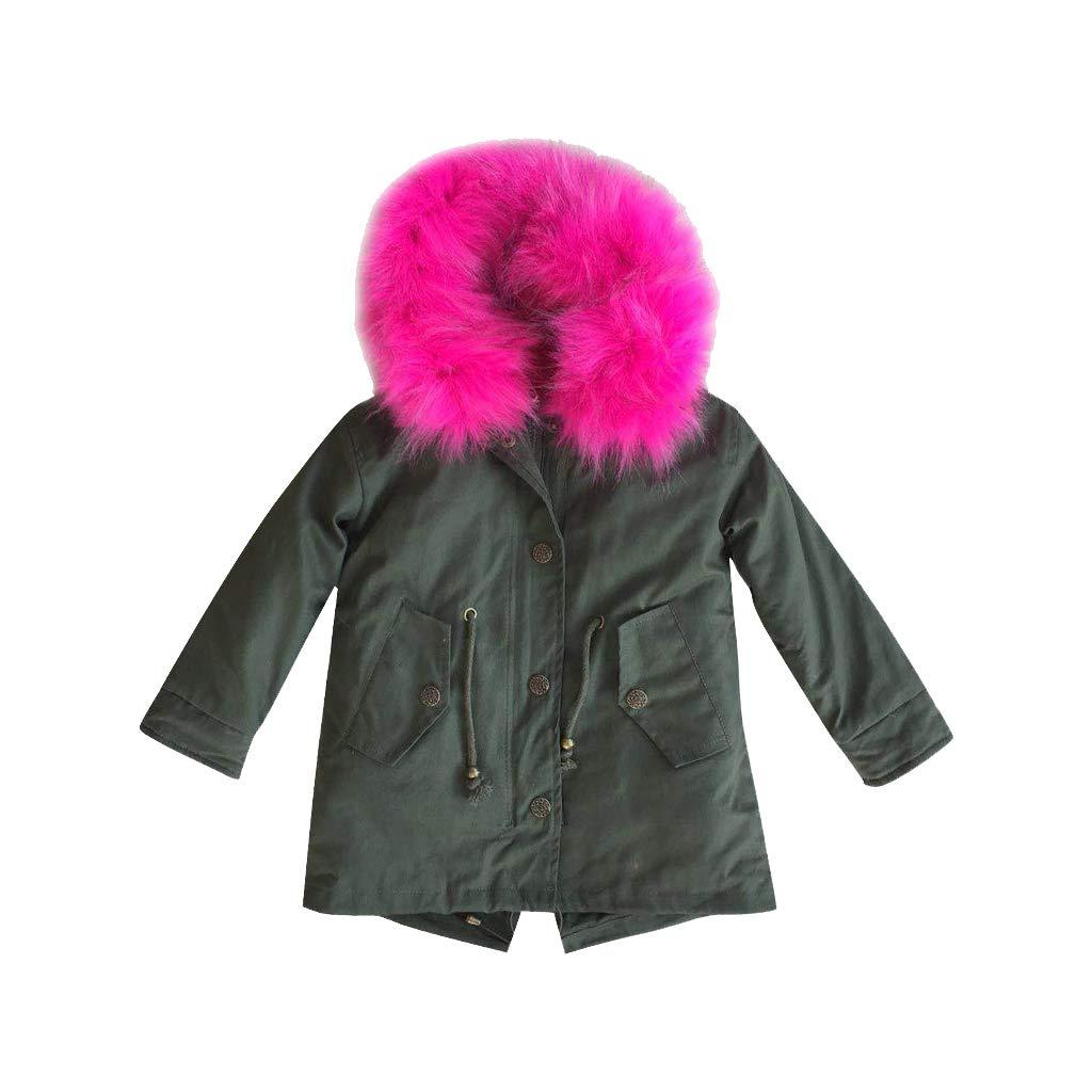Cappotto con Cappuccio Imbottito Lunga Cappotto Trapuntata Invernale Manica Lunga Bambini MissChild Giacca Parka Ragazze
