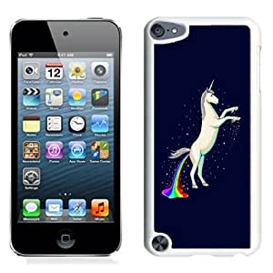 NEW Unique Custom Designed iPod Touch 5 Phone Case With Unicorn Shitting Rainbows_White Phone Case
