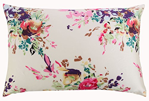SLPBABY Silk Pillowcase for Hair and Skin with Hidden Zipper Print (Standard, Pattern5) ()