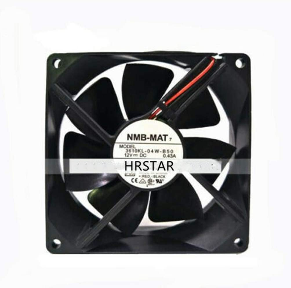 HRSTAR for NMB 3610KL-04W-B50 Fan DC 12V 0.43A 92X92X25mm 2-Wire UPS Power Cooling Fan