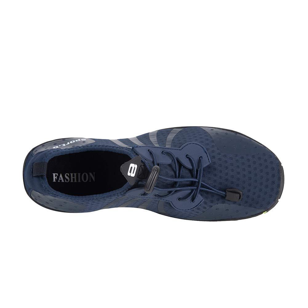 YALOX Water Shoes Men's Women's Outdoor Beach Swim Aqua Socks Quick-Dry Barefoot Shoes for Surfing Yoga Pool Exercise(8080-Blue,44EU) by YALOX (Image #5)