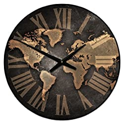 Industrial World Wall Clock, Available in 8 sizes, Most Sizes Ship 2 - 3 days, Whisper Quiet.