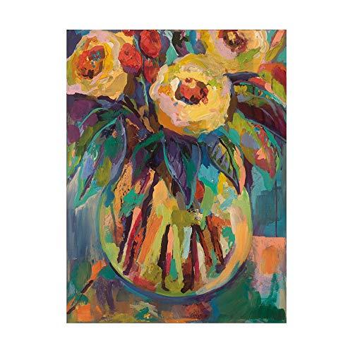 Trademark Fine Art Round Vase by Jeanette Vertentes, -