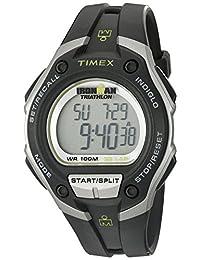 Timex Men's T5K4129J Ironman Traditional 30-Lap Mega Black/Silver-Tone Case Black Resin Strap Watch
