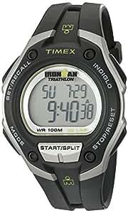 Timex T5K412 - Reloj digital con correa de resina para hombre, color negro/verde