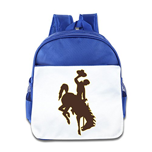 Wyoming Cowboys Girls And Boys Kid's Backpacks Geek Sports School Bags RoyalBlue Size One Size