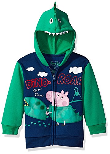 Peppa Pig Toddler' George Pig Boys Costume Hoodie, Navy, 2T