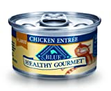 Blue Buffalo Healthy Gourmet Canned Cat Food, Flaked Chicken Entrée, (Pack of 24 3-Ounce Cans), My Pet Supplies