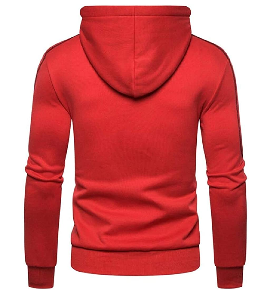 ghjlkmnvffsas Men Hoodies Long Sleeve Zipper Coat Pullover Sweatshirts Autumn Jacket