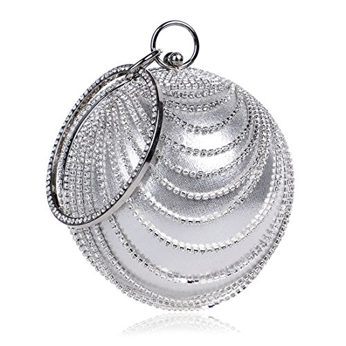 Evening Bag Ladies Handbag Round New Silver The Ball Wild Sa7aq1