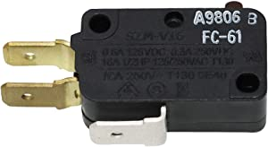 Microwave Door Interlock Switch(3 Terminal) W10727360 by Primeswift Replacement for Whirlpool Maytag W10269457