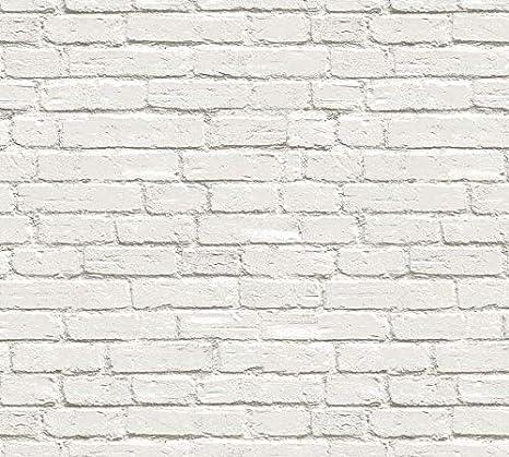 Buy Glowvia White Bricks Wallpaper For Wall Modern White