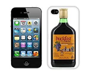 Case For iPhone 4 4S,buckfast tonic wine 3 White iPhone 4 4S Case Cover