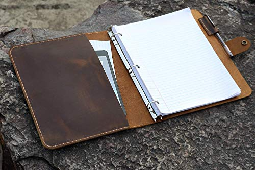 Leather business portfolio organizer refillable product image
