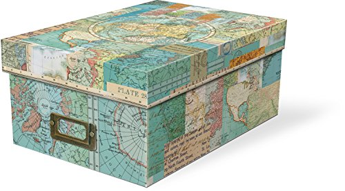 Punch Studio World Atlas Photo Storage Box (Photo Storage Box Dividers compare prices)