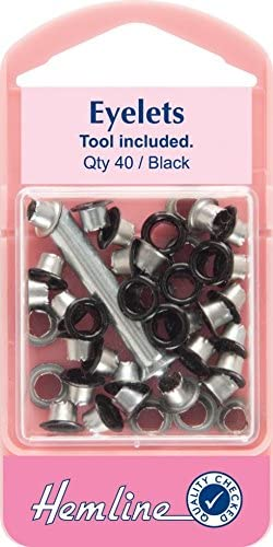 Hemline Nickel Eyelet Pack With Tool 40 Pack 5.5mm