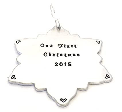 36ae1cda2c76 Image Unavailable. Image not available for. Color  Personalized Ornament -  Snowflake Christmas Ornament - Our First ...