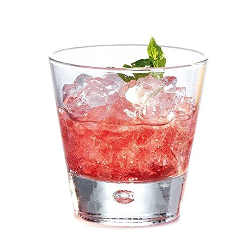 Durobor Norwegian Highball Glasses, Set of 6, Clear Heavy Base Short Bar Glass - Drinking Glasses for Water, Juice, Beer, Wine, Whiskey, and Cocktails | 11 Ounces by Durobor