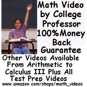 Sat Math Subject Test Levels 1   2 Dvds By College Math Professor Over 10 Hours Http   Www Amazon Com Shops Math Videos