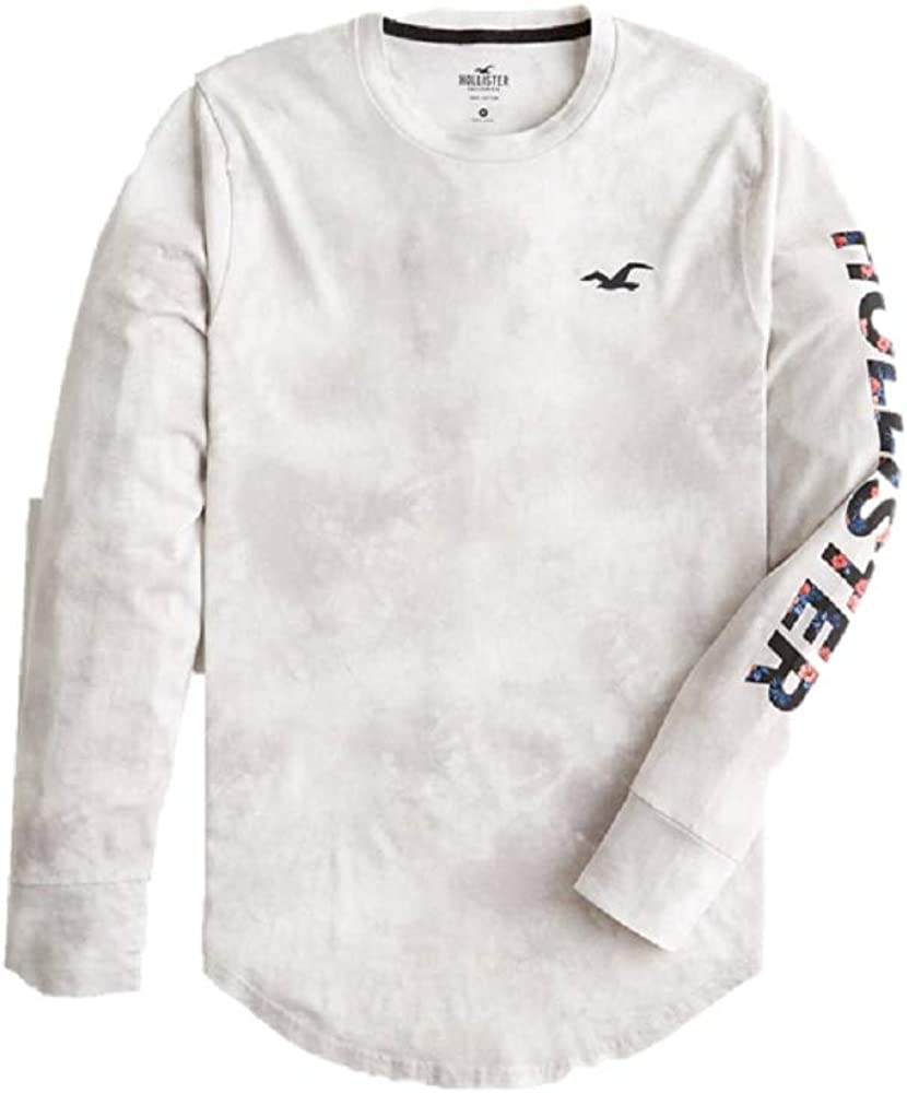 Hollister - Camiseta de manga corta con cuello redondo, diseño de logotipo floral para hombre (talla: M) Gris gris M: Amazon.es: Ropa y accesorios