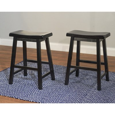 Target Marketing Systems Set of 2 24-Inch Belfast - Black Counter Stools