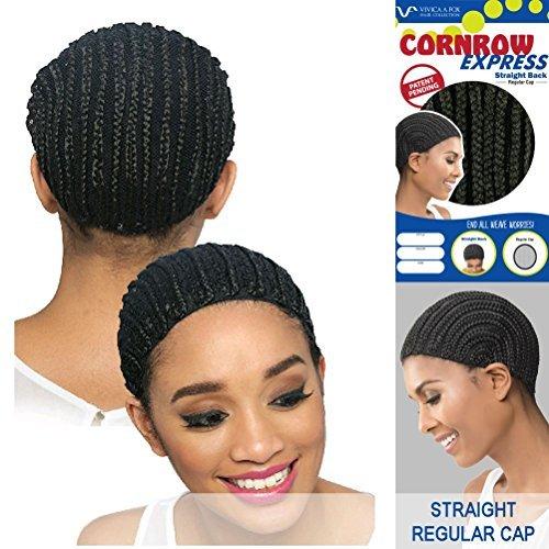 [Vivica A Fox Hair Collection Cornrow Express Cap, Straight Back Type, 1B, Small, 2 Ounce] (Cornrow Wigs)