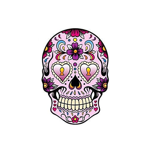 Bumper Kit Collection - Weite Colorful Skull Sticker, Mexican Day of The Dead Waterproof Vinyl Wall Home Decor Car Window Bumper Decal Stickers, Cool Collection (A)