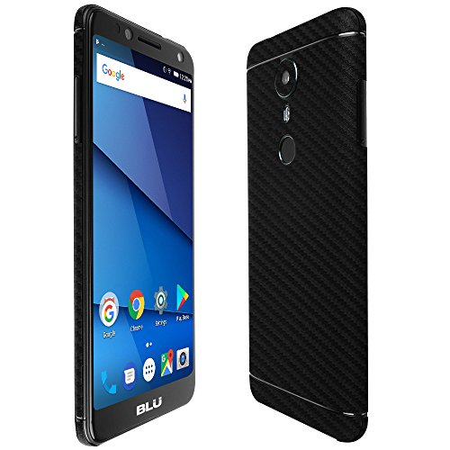 Blu Vivo One Screen Protector + Carbon Fiber Full Body, Skinomi TechSkin Carbon Fiber Skin for Blu Vivo One with Anti-Bubble Clear Film Screen