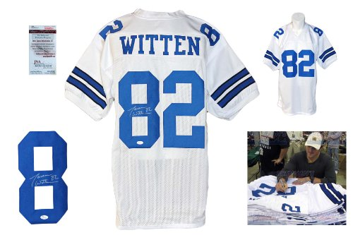 Jason Witten Signed Custom Jersey - JSA Witnessed - Autographed w/ Photo - White