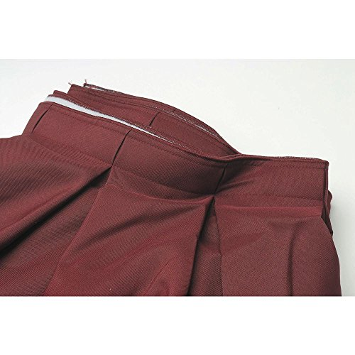 (Visual Textile Box Pleat Burgundy Polyester Table Skirting - 29