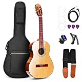 Vangoa 36 Inch 3/4 Size Acoustic Electric Classical Guitar Spruce Wood Travel Guitar