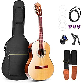 bailando 39 inch full size nylon classical guitar set student beginner guitar. Black Bedroom Furniture Sets. Home Design Ideas