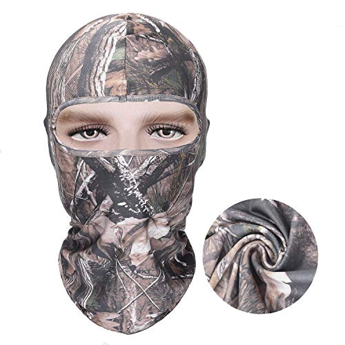 Reactree Camo Balaclava Full Face Mask Hood Headcover Hunting Shooting Cycling Motorcycle Tactical Comfortable Soft Balaclava Headwear (Realtree Camo 02) ()