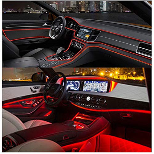 - FidgetFidget LED 4M Red Fiber Optic Ambient Light Car Interior Decor Door&Front Wind Net Lamp