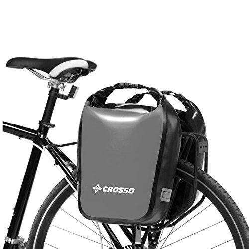 CROSSO Dry Small Click 30l Gepäckträgertasche Fahrradtasche verschiedene Farben silber