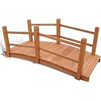 Unfade Memory Romantic Wooden Garden Bridge Decorative Pond Bridge for Backyard ' 7″ x 1' 12″ x 1' 10