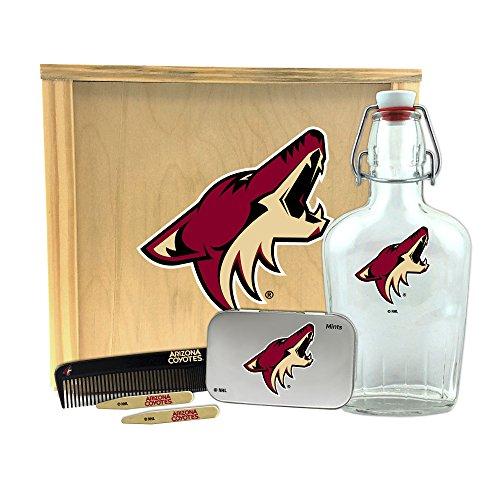 NHL Arizona Coyotes Gentlemen's Gift Box-Toiletry Edition  1-250 ml Glass Swing-Top Bottle, 10
