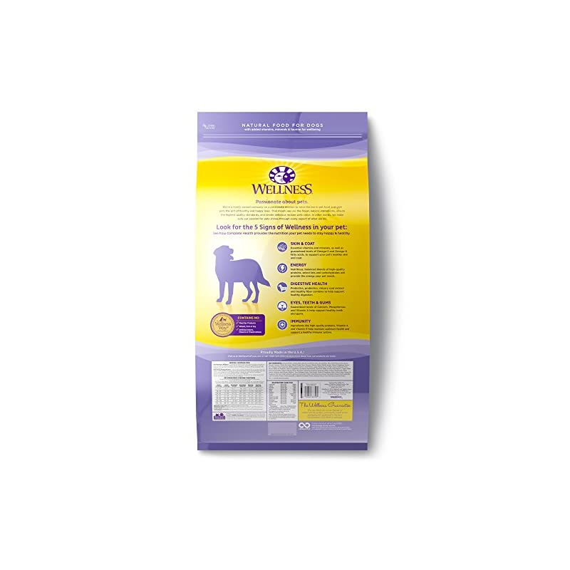 dog supplies online wellness complete health natural dry healthy weight dog food, chicken & peas, 26-pound bag