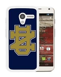 Diy Notre Dame Fighting Irish White Case For Motorola Moto X Phone Case Cool Design