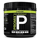 Pre Workout Powder Supplement Natural Energy Focus I Keto Paleo I PROMIX Performance I Men & Women Beta Alanine Taurine Tyrosine Vitamin B12 Weight Fat Loss Blast Drink, Preservative Free, Limeade