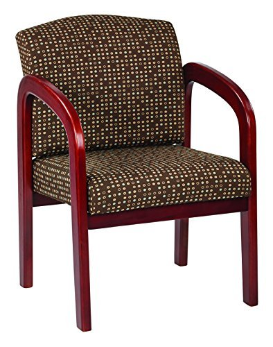 Work Smart WD387-K104-osp Cherry Finish Wood Visitor Chair, Cocoa