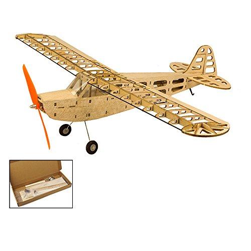 Balsa Wood Airplane Kits Piper Cub J3 Fly Aircraft, 37