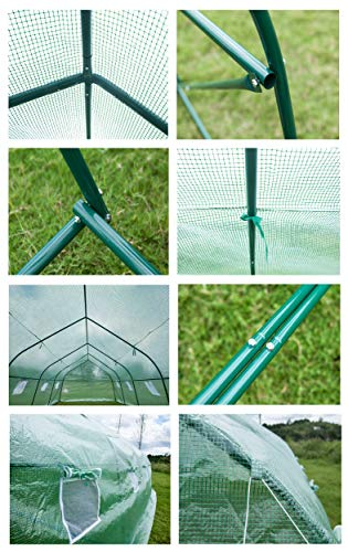 GOJOOASIS Walk-in Greenhouse 20'x10'x7' Outdoor Large Portable Green Garden House Plant Shed by GOJOOASIS (Image #2)