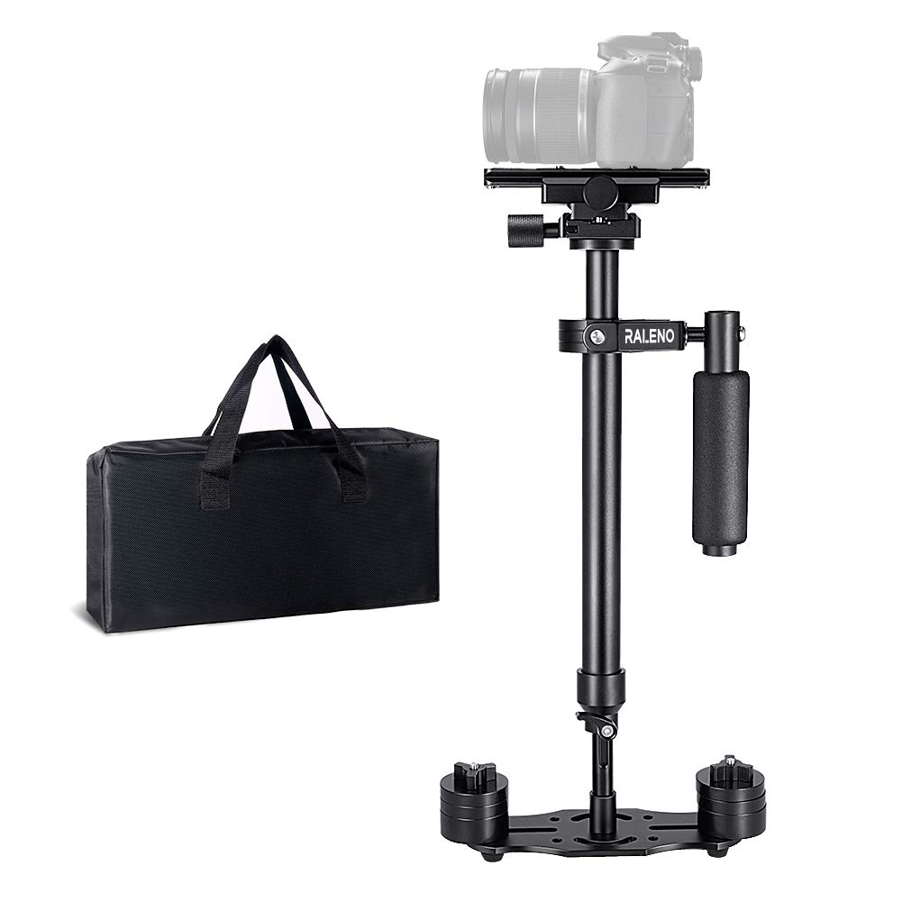 RALENO Handheld Camera Stabilizer Steadicam Aluminium Alloy 24''/60cm with Quick Release Plate 1/4'' and 3/8'' Screw for Canon Nikon Sony and Other DSLR Camera Video DV up to 6.6 lbs/3 kg by RaLeno