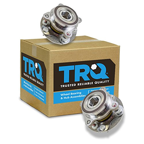 (TRQ Front Wheel Bearing & Hub Assembly Pair for Toyota Pickup Truck SUV)