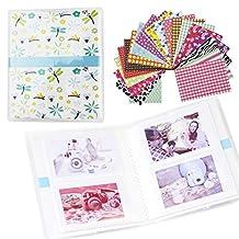 Shaveh 64 Pockets Photo Album for Mini Fujifilm Instax Mini 8 7s 25 50s 90 Polaroid & Name Card (Dragonfly)