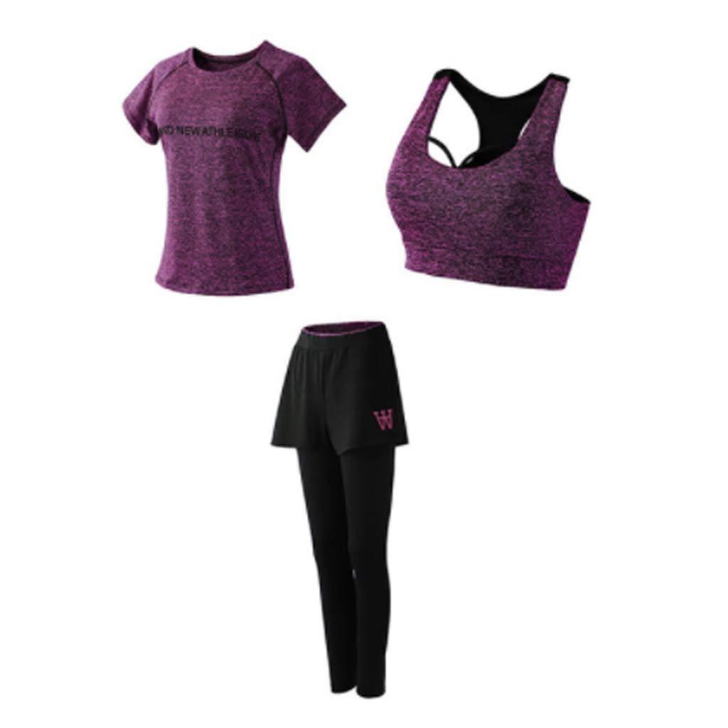 Lilongjiao Damen-Yoga-Bekleidung mit Fitness-Strumpfhosen und Sport-BH trägt atmungsaktive Laufbekleidung