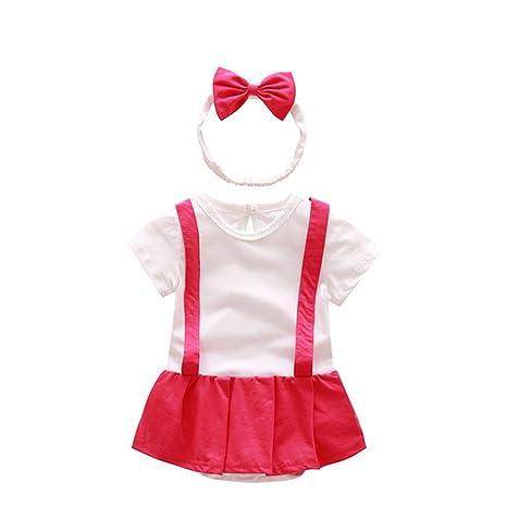 Tirador bebé niña algodón Pelele para falda, diseño serigrafiado ...