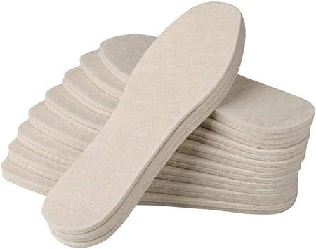 Invierno Unisex Plantillas de algodón Zapatos de fieltro de lana Almohadilla Gruesa Suave y cálida Piel transpirable Hombres Mujeres Zapatos Plantillas de almohadilla Mantenga el calentamiento: Amazon.es: Salud y cuidado personal