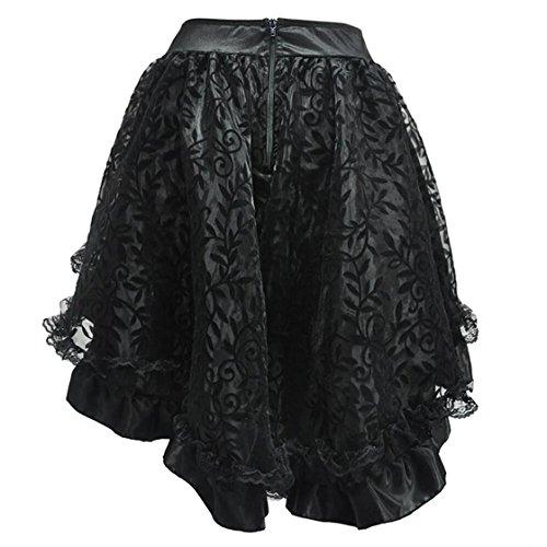 Size Dentelle Plus S Haute plisses Taille personnalis Jupes DuuoZy Jupe black Balle scne 6XL Danse Femmes irrgulire Performance Mince CF4qAw